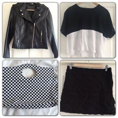 A mix if DIY and monochrome #fashion #festival #vintage