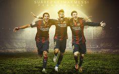 FC Barcelona 2015 Neymar Messi Suarez wallpaper