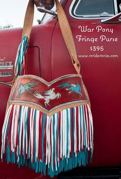 War Pony Fringe Purse by ReRideStories on Etsy
