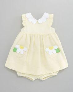 Florence Eiseman Daisy Pockets Seersucker Dress