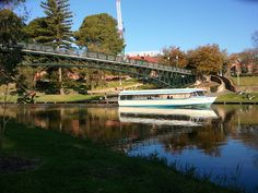 River Torrens, Adelaide, South Australia. The Popeye cruise ship taking people for a tour of Adelaide's river.