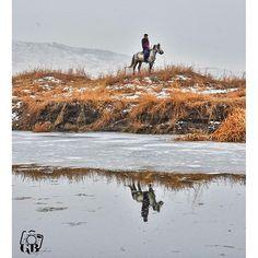 Karlar içerisindeki bir atlı izdüşümü ile... Fotoğrafı gönderen: Gamze Bozkaya