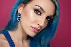 Trucco luminoso per occhi scuri Skin Tips, Hair Beauty, Hoop Earrings, Make Up, Jewelry, Tutorial, Mary, Fashion, Moda