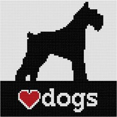 Gráfico Love Dogs com silhueta de schnauzer #bordado  #PontoCruz  #animal  #schnauzer  #gráfico  #cachorros  #dogs #needlecraft  #CrossStitch  #pattern  #artesanal #artesanato #craftwork #handmade #craft #ArtesanatoPraUsar #AUDogCSP