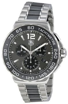 27% Off was $2,300.00, now is $1,680.00! TAG Heuer Men's CAU1115.BA0869 Formula 1 Stainless Steel Ceramic Chronograph Watch