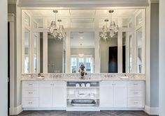 Clark and Co Homes - bathrooms love the mirrors to ceiling floors n cabinetry