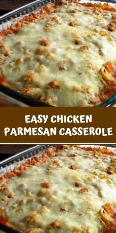 This Easy Chicken Parmesan Casserole is one of the easiest casserole recipes ever. Zero precooking because the chicken cooks in the casserole! A perfect dish to prep ahead of time and stick in the oven an Oven Baked Chicken Parmesan, Chicken Parmesan Casserole, Oven Chicken, Italian Chicken Casserole, Keto Chicken, Chicken Tenders, Ww Recipes, Italian Recipes, Cooking Recipes