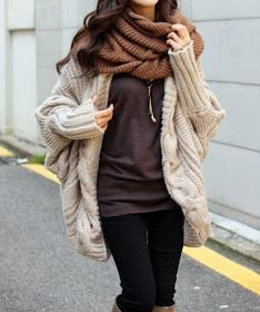 HOW-MI FASHION : Christmas Sale 25% OFF Last Day!: #0073 Loose Cape Knitting Coat US$74