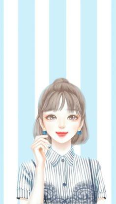 59 Trendy fashion wallpaper iphone backgrounds we heart it Cartoon Girl Images, Cute Cartoon Girl, Cartoon Girl Drawing, Cartoon Ideas, Big Eyes Artist, Cute Kawaii Girl, Lovely Girl Image, Cute Girl Wallpaper, Fashion Wallpaper