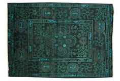 One Kings Lane - Downstairs - 10'1x13'1 Bennett Rug, Emerald/Teal