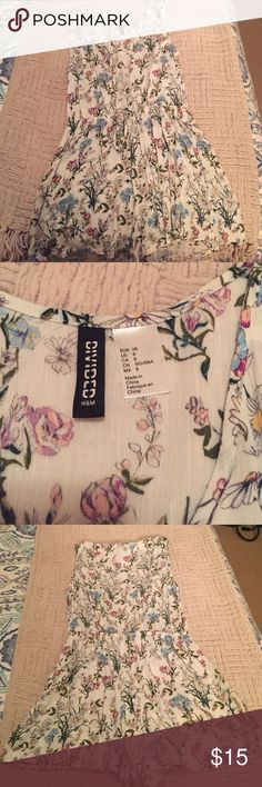 H&M floral romper Floral romper with adjustable drawstring waist and button down opening H&M Other