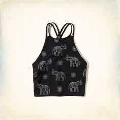 Elephant Graphic Crop Top from Hollister Co. Crop Top Outfits, Cute Outfits, Bralette Crop Top, Elephant Love, Types Of Fashion Styles, Graphic Tees, Crop Tops, My Style, Top Girls
