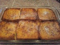 *** bottom soft- more like french toast casserole-   OVEN FRENCH TOAST