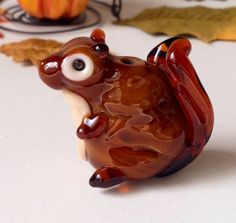 Squirrel lampwork GoRGeOUs.   by TheGlassBunny on Etsy, $22.50