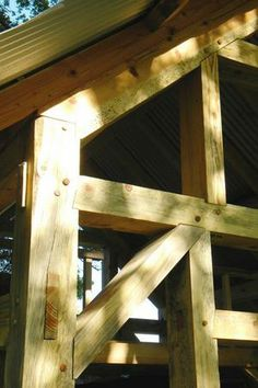 Timber Framing, stone masonry, furniture and custom wood working Metal Barn Homes, Metal Building Homes, Pole Barn Homes, Timber Frame Homes, Timber House, Oak Framed Buildings, Timber Buildings, Woodworking Ideas Pallets, Joinery Details