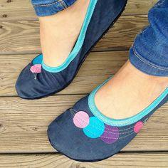 Barefoot baleríny kožené s podrážkou - barevné