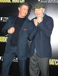 Put 'em up! Sylvester Stallone and Robert De Niro look dapper at the premiere of 'Grudge Match' in NYC.