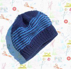 Child's hand knit beanie in worsted merino #knitting