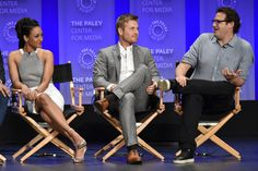 Photos from the Arrow and Flash spotlights at the 2015 PaleyFest Rick Cosnett, Land Mine, Flash Barry Allen, Geoff Johns, Candice Patton, Dc Comics Characters, The Cw, The Flash