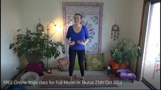 FREE Online yoga with Kylie! Yoga tailored to the planet's Astrology and Numerology. Online Yoga, Full Moon, Taurus, Free, Harvest Moon, Blue Moon