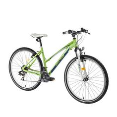"Dámsky horský bicykel DHS Terrana 2922 29"" - model 2016 - Green-White"