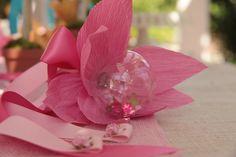 Lilly Flower Snow Globe Wand