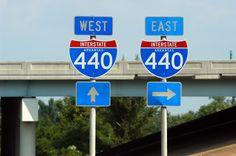 Arkansas interstate 440 sign.