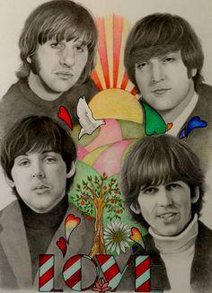 The Beatles 2 by PamelaKaye on DeviantArt