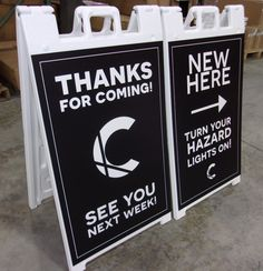 Connect with guests in the parking lot before they even walk through the doors using sidewalk signs! #church #sundaymornings #sunday Parking Signs, Parking Lot, Directional Signs, Pavement Design, Church Design, Connect, Sidewalk Signs, Portable Display, Doors