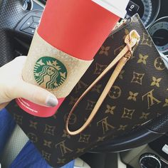 Saturday errand essentials!! LV Unboxing video live! Link in profile! #lux_mommy #neverfullpochette #lvmonogram #starbucks #momlife #minks4all #jerushaaddict by lux_mommy