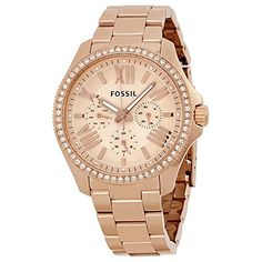 Women  Watches - Fossil Womens AM4483 Cecile Rose GoldTone Watch with Crystals -- To view further for this item, visit the image link. (This is an Amazon affiliate link)