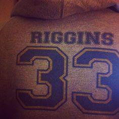 Heather Grey Hoodie Sweatshirt, #33, Tim Riggins; Friday Night Lights.