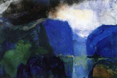 'Mountain Landscape' Emil Nolde - 1867 – 1956 Expressionist German Danish painter & printmaker
