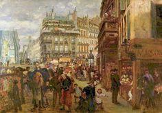 Jour de semaine à Paris Adolph von Menzel 1869