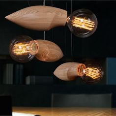 Scandinavian design insect-inspired Swarm lighting series wasp-shaped pendants