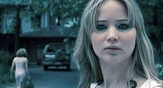 This is Jennifer Lawrence's reaction when someone doesn't squat.   She seems pissed off.