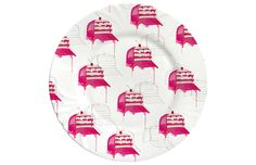 """""""Feed me"""" by Shira Barzilay // Fancy Illustrated Cake Plates for the Fashionable You // via DesignBreak"""