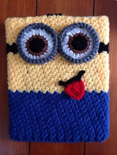 Minion Tablet Cozy / cover. iPad iPad mini ereader by Kathyskozies, $20.00
