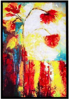 Eli's Blossom Framed Artwork -- a fantastic artwork with warm hues, perfect for adding a pop of color to the living or bedroom. | cort.com