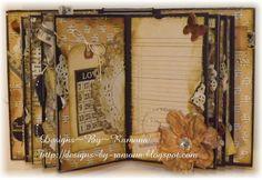 #papercraft #scrapbook #minialbum Other: Mini Album Using Teresa Collins Vintage Finds