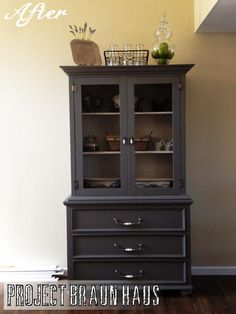 TV Hutch turned China Cabinet