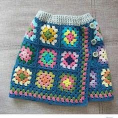 Hand-knitted skirt models for girls 2018 - girls and boys ., Hand-knit skirt models for girls 2018 - knitting patterns for girls and boys # for kids # for kids Knitting For Kids, Baby Knitting Patterns, Hand Knitting, Crochet Patterns, Skirt Patterns, Poncho Au Crochet, Crochet Blouse, Knit Crochet, Granny Square