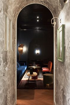 hidden away at the back of a broom closet, 'mr. simon' is the secret bar of a well traveled botanist, whose living room is defined by tokens of well-worn luxury.
