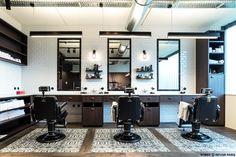 CERAMIC TILE ROMEE BY REVOIR PARIS - PROJECT IN BELGIUM Barber Shop Temse by www.pieterthooft.eu