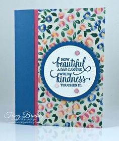 Garden Impressions Card | Stamping With Tracy