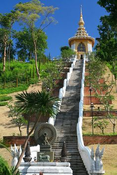 The 200 steps of Buddha. Religious place, Pattaya - Thailand