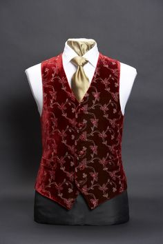 The new red waistcoat Klara made for herself now represents her chance at freedom and finally doing something for herself. Nehru Jacket For Men, Nehru Jackets, Double Breasted Waistcoat, Men's Waistcoat, Gentleman Mode, Gentleman Style, Indian Men Fashion, Mens Fashion, Wedding Waistcoats