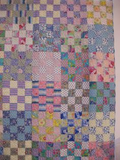 Kaffe Fassett's quilts. – Paint Drops Keep Falling Pink Quilts, Scrappy Quilts, Easy Quilts, Quilting 101, Quilting Projects, Quilting Designs, Quilting Ideas, Machine Quilting, 16 Patch Quilt