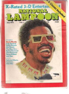 National Lampoon July 1975 Stevie Wonder