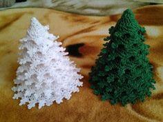 Crochet Tree, Crochet Christmas Trees, Christmas Tree Pattern, Christmas Tree Decorations, Crochet Baby, Knit Crochet, Crochet Patterns Filet, Christmas Preparation, Crochet Instructions